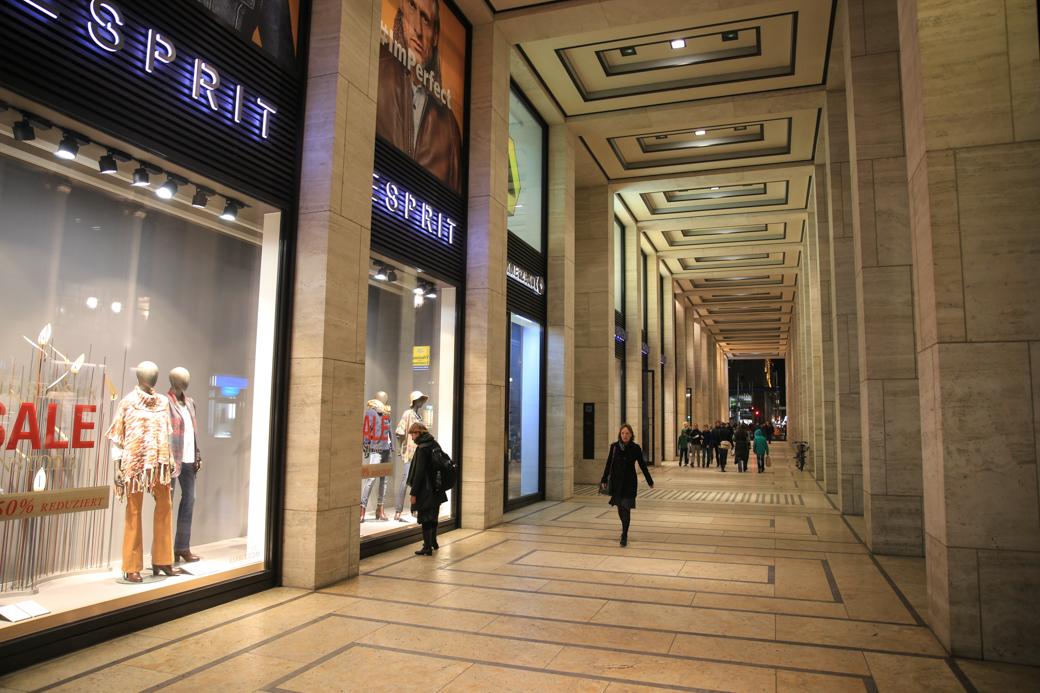 winkels aan de Friedrichstrasse